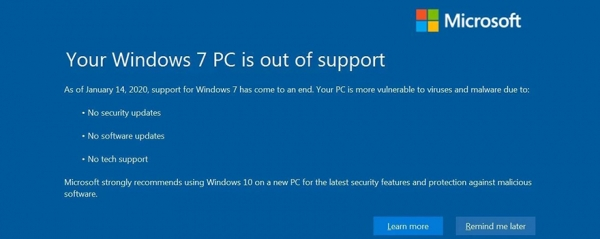 Upgrade Your Windows 7 Devices Now